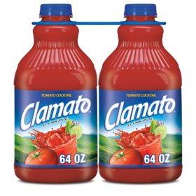 Clamato Tomato Cocktail (64 oz. bottles, 2 pk.)
