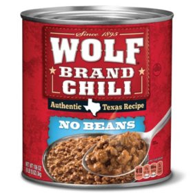 "Wolf Brand ""No Bean"" Chili (106 oz.)"