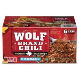 "Wolf Brand ""No Bean"" Chili (15oz., 6pk.)"