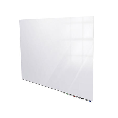 "Ghent Aria Magnetic Low Profile 1/4"" Glassboard - Horizontal White, Choose Size"