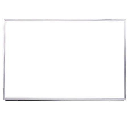 Ghent Aluminum Frame Porcelain Magnetic Whiteboard - Choose Size