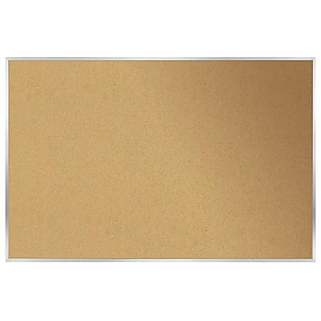 Ghent Aluminum Frame Natural Cork Bulletin Board, Choose Size
