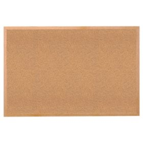 Ghent Wood Frame Natural Cork Bulletin Board - Choose Size