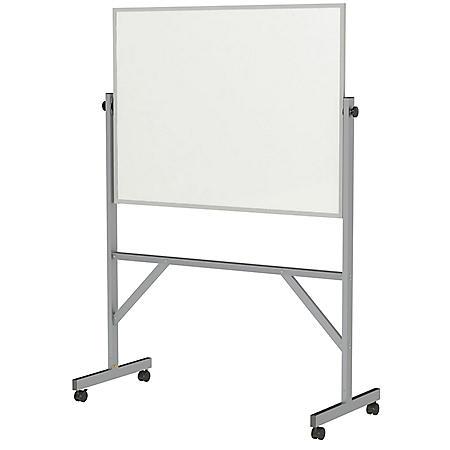 Ghent Reversible Porcelain Marker/Marker, Aluminum Frame, 4 Markers & Eraser - Choose Size