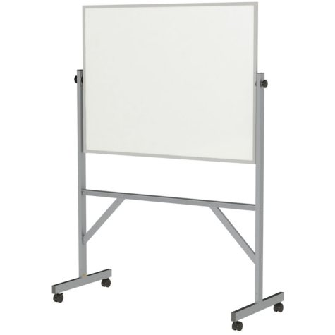 """Ghent Aluminum Frame Free Standing Reversible Markerboard, 72.5"""" x  53.25"""""""