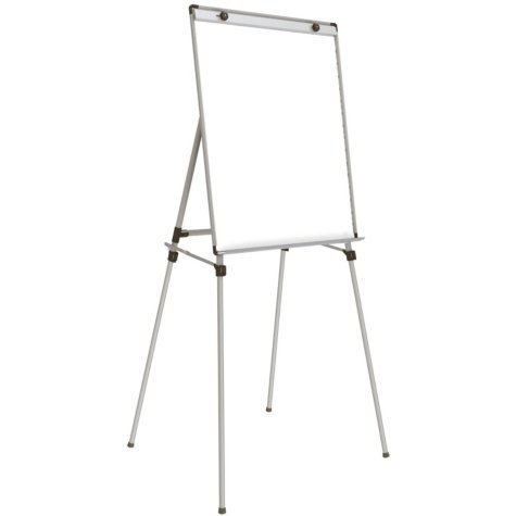 "Ghent 4 Leg Easel with Magnetic Whiteboard, 36"" x 28"""