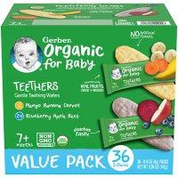 Gerber Organic Teethers, Variety Pack (36 ct.)