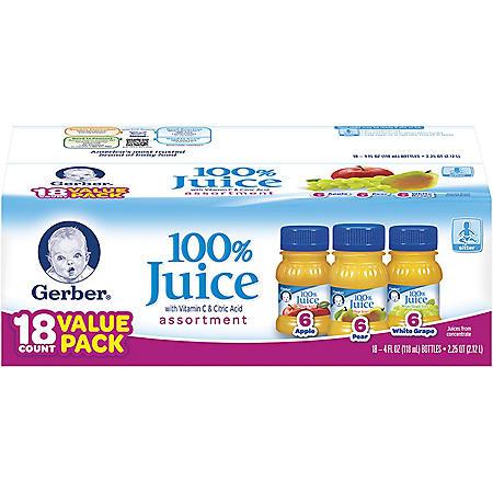 Gerber® Assorted Fruit Juice