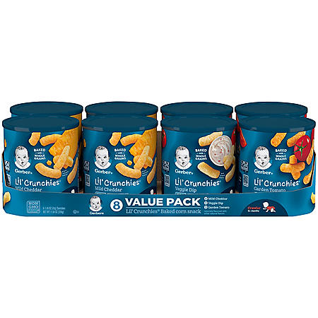 Gerber Lil' Crunchies Baked Corn Snack Variety Pack (1.48 oz., 8 ct.)