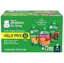 Gerber Organic 2nd Foods, Variety Pack A (3.5 oz, 12 ct.)