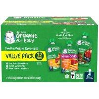 Gerber Organic 2nd Foods Variety Pack (3.5 oz., 12 ct.)