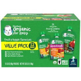 Gerber Organic 2nd Foods Variety Pack (3.5 oz., 12 ct.)