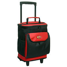 TCL Cool Carry Single Section Rolling Cooler - Red