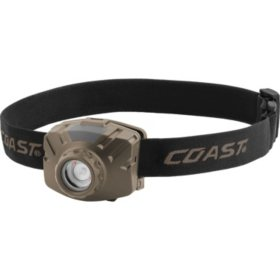 Coast 450 Lumen Weatherproof Rechargeable Headlamp