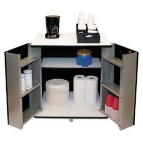Vertiflex 2-Door Refreshment Stand - Black/White