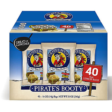 Pirate's Booty Aged White Cheddar Puffs (0.5oz / 40pk)
