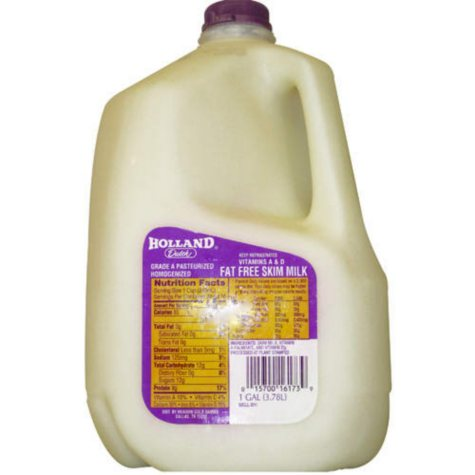Holland Dutch Fat Free Skim Milk - 1 gal