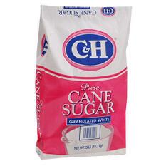 C&H Granulated White Sugar - 25 lb. bag