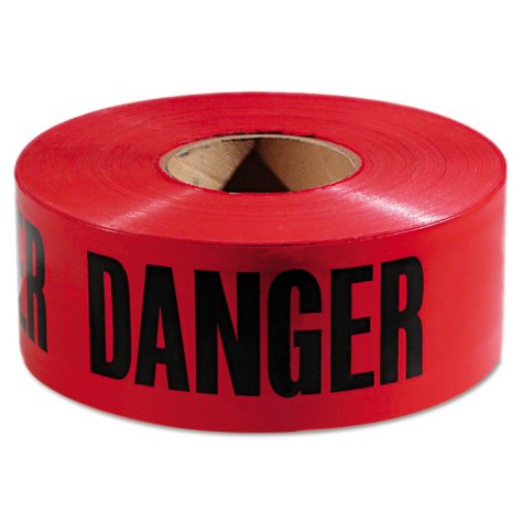 """Empire Danger Barricade Tape - Red and Black (3"""" x 1,000')"""