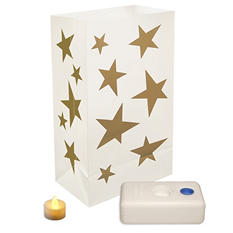 12-Count LumaBase LED Luminaria Kit - Stars