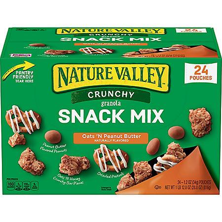 Nature Valley Crunchy Granola Snack Mix Oats 'N Peanut Butter (1.2oz / 24pk)