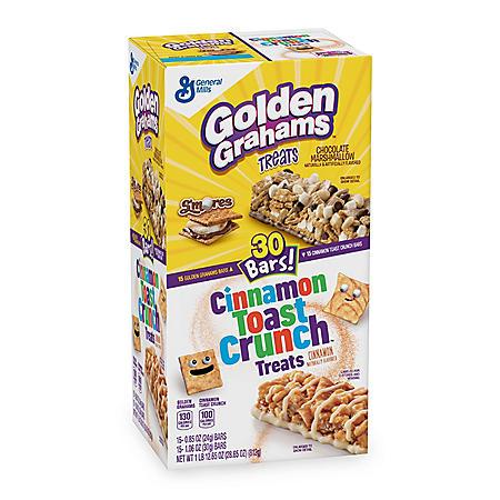 Golden Graham & Cinnamon Toast Crunch Cereal Bar Treats (30 ct.)