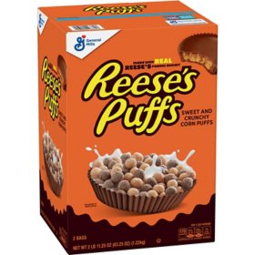 Reese's Puffs Cereal, Peanut Butter Chocolate  (43.25 oz.)