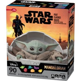 Star Wars Mandalorian Fruit Snacks, Assorted Fruit (90 pk.)