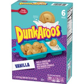 Dunkaroos Vanilla Cookies and Vanilla Frosting with Rainbow Sprinkles (6 ct.)