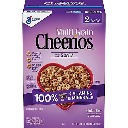 Multi-Grain Cheerios Gluten-Free Cereal (17.25 oz., 2 pk.)