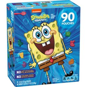 SpongeBob SquarePants Fruit Snacks, Assorted Fruit (90 pk.)