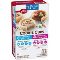 Betty Crocker Cookie Cups, Birthday Cake and Rainbow Candy (2 pk.)