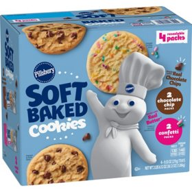 Pillsbury Soft Baked Cookies, Chocolate Chip and Confetti Variety Pack (4 pk.)
