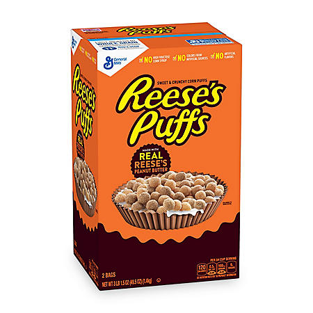Reese's Peanut Butter Puffs Cereal (49.5 oz., 2 pk.)