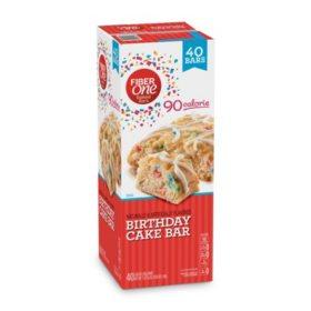 Fiber One 90 Calorie Birthday Cake Bar (35.6 oz, 40 ct.)