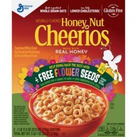 Honey Nut Cheerios Cereal (2 boxes, 27.5oz)