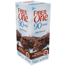 Fiber One 90 Calorie Chocolate Fudge Brownies - 24 ct.