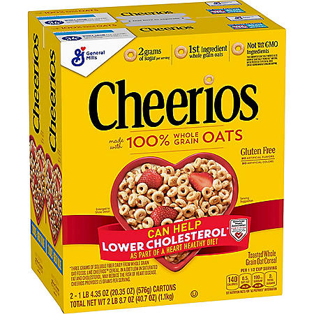 Cheerios Gluten-Free Cold Cereal (20.35 oz., 2 pk.)