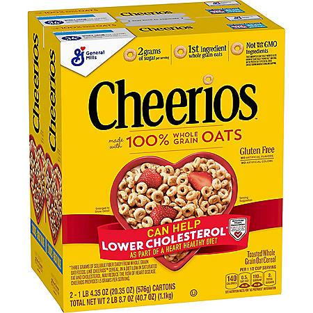 Cheerios Gluten-Free Cold Cereal (20.35 oz., 2 pk.)