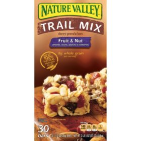 Nature Valley Fruit and Nut Trail Mix Snack Bars (30 ct., 1.2. oz.)