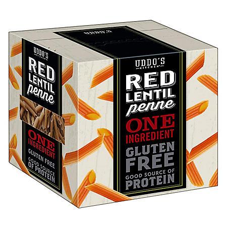 Uddo's Kitchen Red Lentil Penne Pasta (12 oz. pks., 3 ct.)