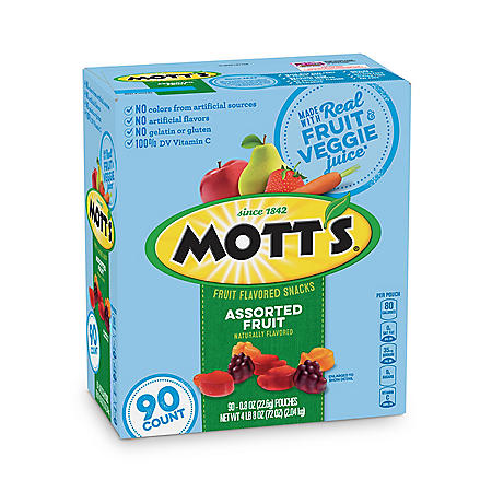 Mott's Medleys Assorted Fruit Snacks, Gluten Free (0.8 oz., 90 ct.)