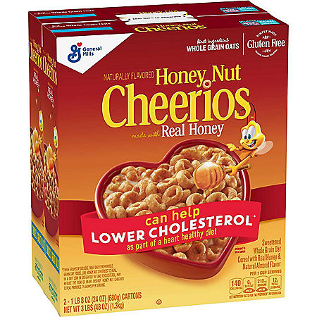 Honey Nut Cheerios Gluten-Free Cereal (24 oz., 2 pk.)