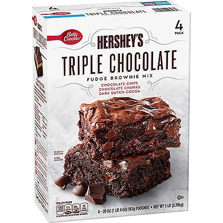 Hershey's Triple Chocolate Brownie Mix (20 oz., 4 pk.)