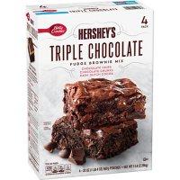Betty Crocker Hershey's Fudge Brownie Mix, Triple Chocolate (20 oz., 4 pk.)