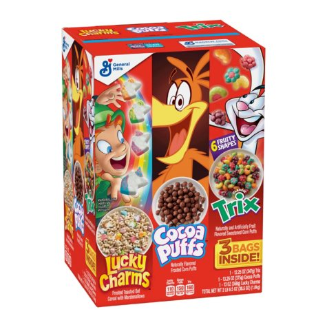 Lucky Charms/Cocoa Puffs/Trix Cereal Variety Pack (3 ct.)