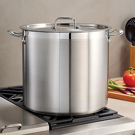 Tramontina Gourmet 18/10 Stainless Steel 24-Quart Covered Stock Pot
