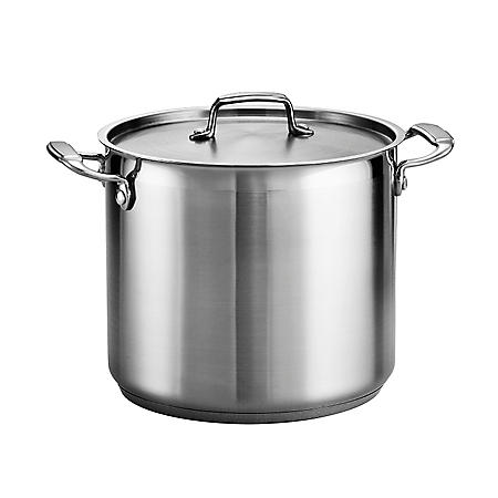 Tramontina Gourmet 18/10 Stainless Steel 12-Quart Covered Stock Pot