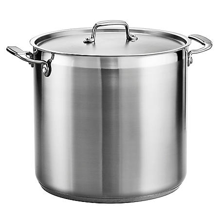 Tramontina Gourmet 1810 Stainless Steel 20 Quart Covered Stock Pot