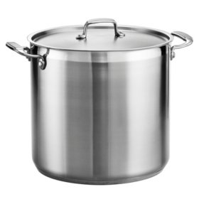Tramontina Gourmet 18/10 Stainless Steel 20-Quart Covered Stock Pot